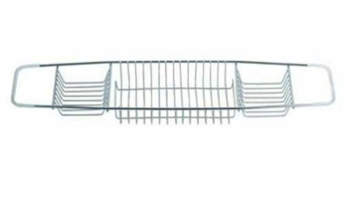 BLUE CANYON STAINLESS STEEL OVER BATH CADDY STORAGE RACK