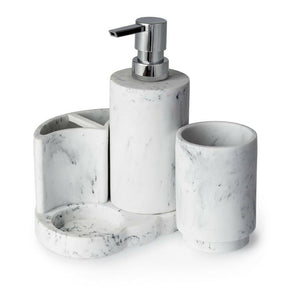 BLUE CANYON MARBLE AREZZO MARBLE BATHROOM ACCESSORY SET