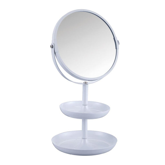 BLUE CANYON WHITE COSMETIC MIRROR WITH HOLDER