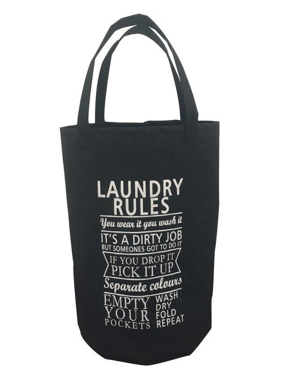 BLUE CANYON BLACK LAUNDRY CARRY BAG WITH HANDLES