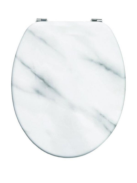 BLUE CANYON MARBLE EFFECT TOILET SEAT WITH STAINLESS STEEL FIXINGS