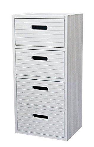 BLUE CANYON WHITE MODERNA 4 DRAWER CABINET