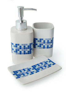 BLUE CANYON MOSAIC CERAMIC BATHROOM SET