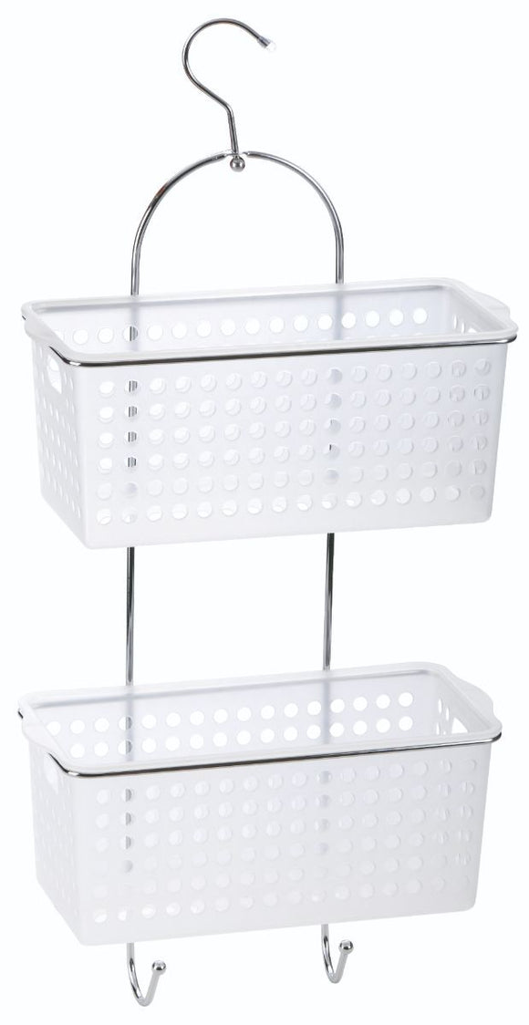 BLUE CANYON HANGING 2 BASKET SHOWER CADDY
