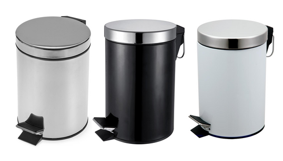 BLUE CANYON 3LTR PEDAL BIN BLACK, WHITE OR SILVER