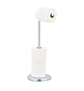HOMEKIND CHROME SWIVEL 4 ROLL TOILET ROLL HOLDER