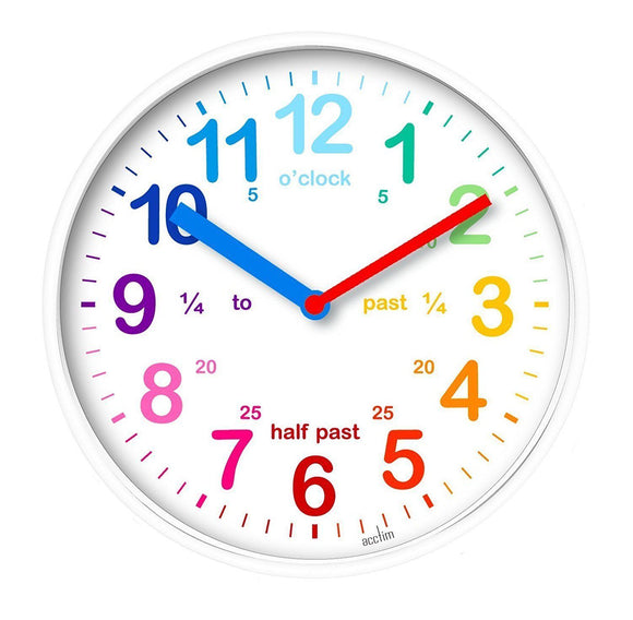 ACCTIM 30CM WHITE TEACHING WALL CLOCK