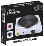 FINE ELEMENTS WHITE SINGLE HOT PLATE