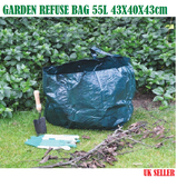 KINGFISHER 55L GARDEN REFUSE BAG WITH HANDLES