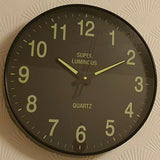 JUST ESSENTIALS GLOW IN THE DARK WALL CLOCK