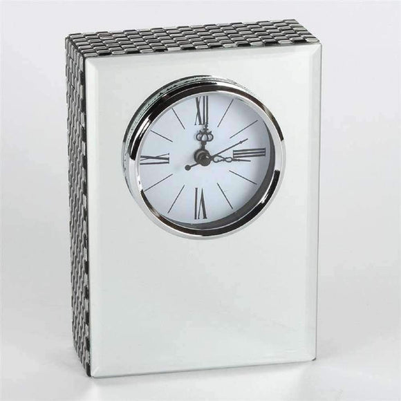 HESTIA MIRRORED RECTANGLE MANTEL CLOCK