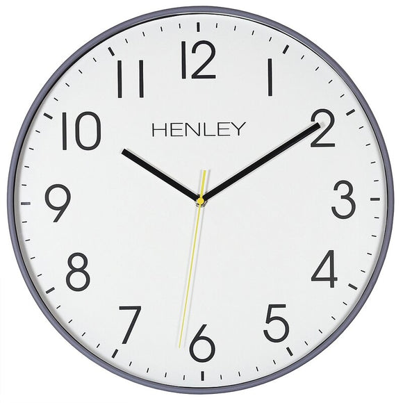 HENLEY GREY MORETON 40CM WALL CLOCK