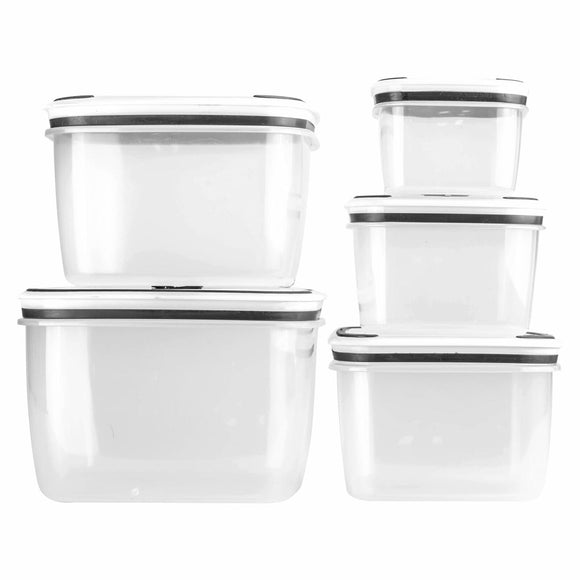 CLEAR 10PC CLEAR FOOD CONTAINERS