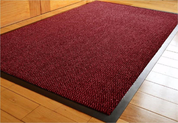 JVL RED RUBBER BARRIER MAT - 120CM X 180CM
