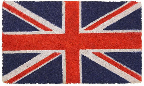 JVL UNION JACK NATURAL COIR DOOR MAT