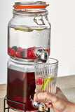 KILNER STACKABLE JAR SET WITH DISPENSING TAPS + STAND