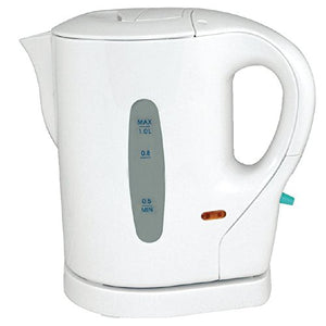 KINGAVON 1L WHITE 900W TRAVEL KETTLE