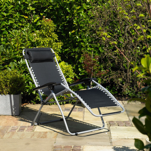 KINGFISHER ZERO GRAVITY SET OF 2 GARDEN SUN CHAIRS