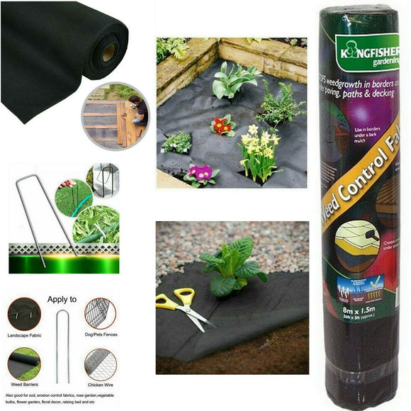 KINGFISHER WEED GUARD CONTROL FABRIC 8M X 1.5M