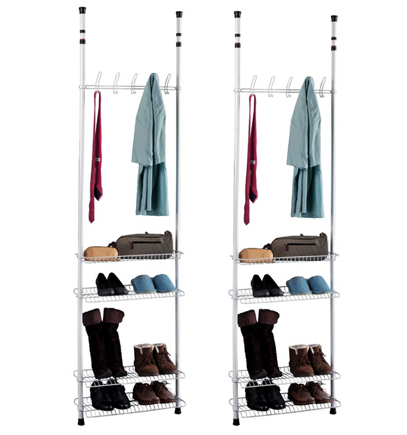 BLUE CANYON SILVER / WHITE MILO TELESCOPIC WARDROBE ROOM TIDY
