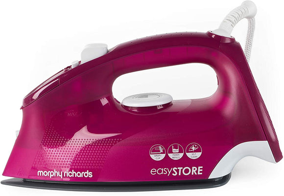 MORPHY RICHARDS BERRY PINK EASYSTORE IRON 2400 WATT