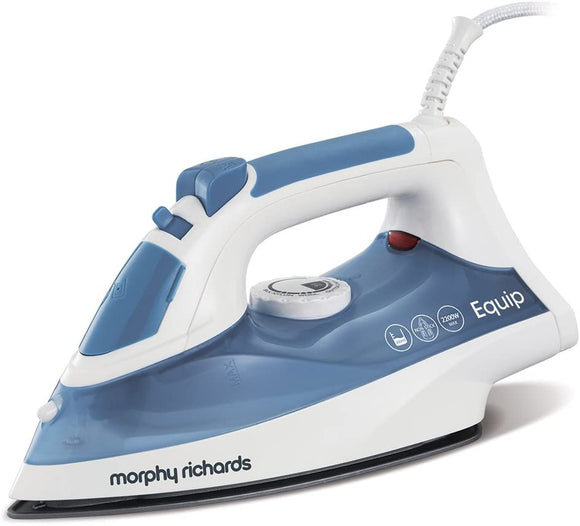 MORPHY RICHARDS EQUIP 220W BLUE & WHITE CLOTHES IRON