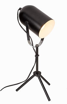 OUT OF THE BLUE BLACK METAL TRIPOD LAMP