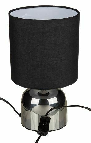 OUT OF THE BLUE BLACK & CHROME TABLE LAMP