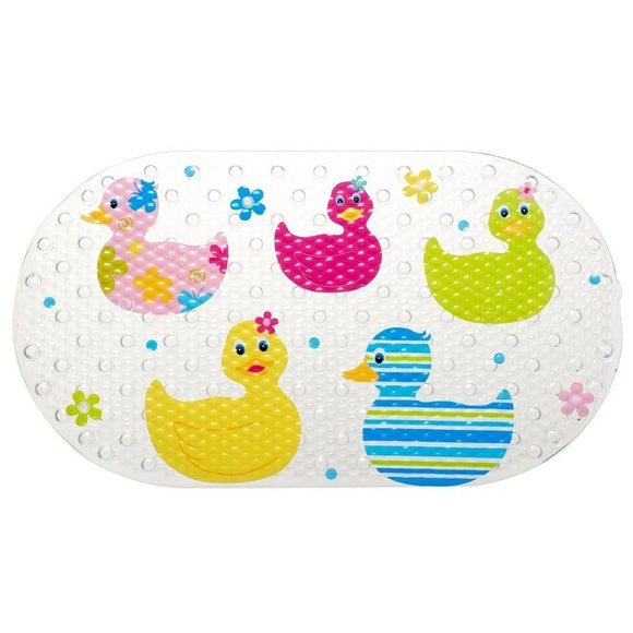 BLUE CANYON CHILDREN'S QUACKERS SLIP RESISTANT BATH MAT