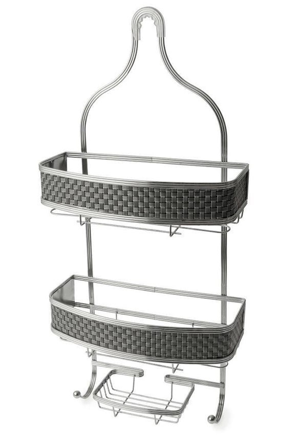 BLUE CANYON 3 TIER PISCES SILVER GREY HANGING BATH SHOWER CADDY