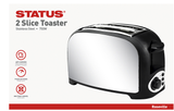 STATUS ROSEVILLE 2 SLICE STAINLESS STEEL TOASTER