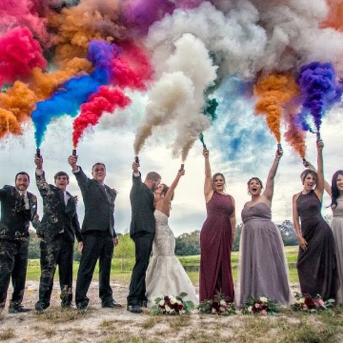 TRAFALGAR HANDHELD DAY TIME SMOKE BOMB GRENADE - GREAT FOR PARTY WEDDING FOOTBALL