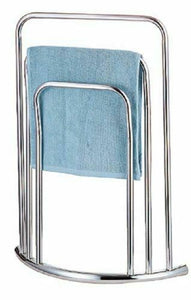 HOMEKIND CHROME 3 TIER TOWEL RAIL STORAGE HOLDER