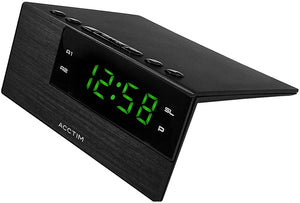 ACCTIM ADAVEN BLACK MAINS DIGITAL ALARM CLOCK