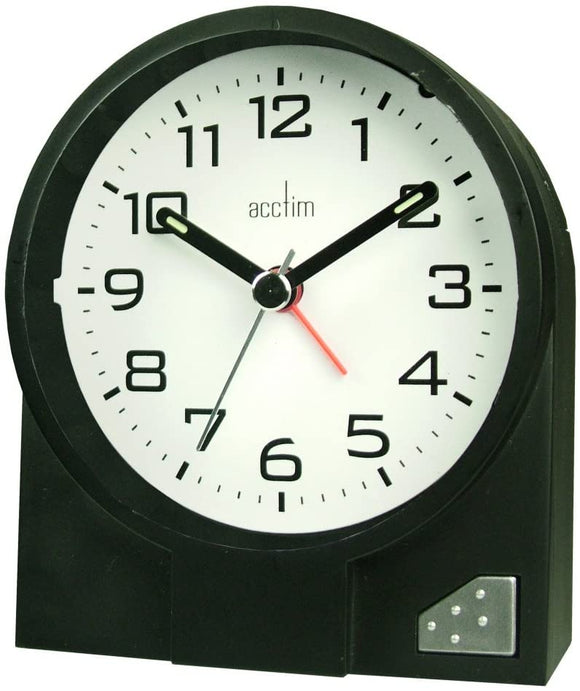 ACCTIM LEON BLACK ALARM CLOCK