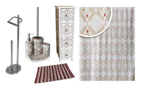 BLUE CANYON DAMASK BATHROOM ACCESSORY RANGE