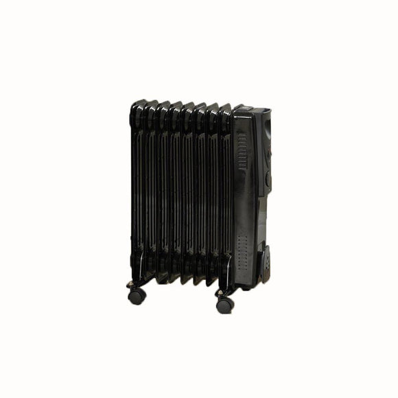 KINGFISHER LIMITLESS 2000W BLACK 9 FIN OIL FILLED HEATER