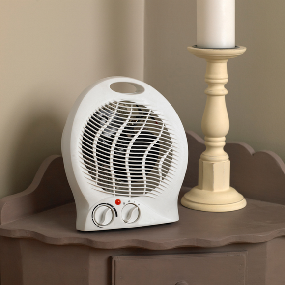 KINGFISHER LIMITLESS 2000W ROUND FAN HEATER