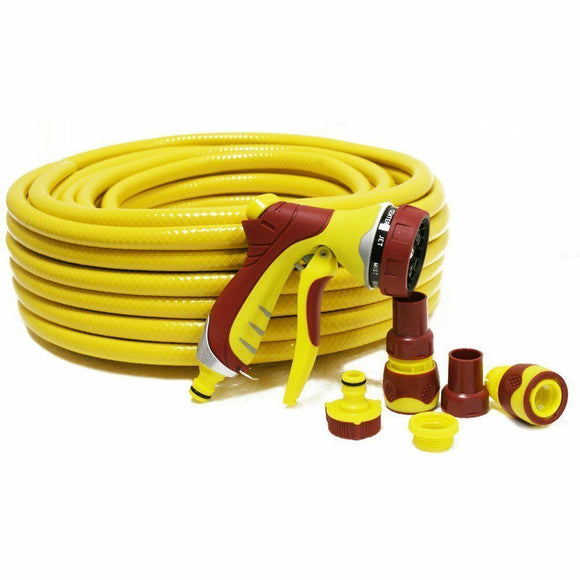 KINGFISHER GARDENPRO 30M HOSE + SPRAY GUN SET