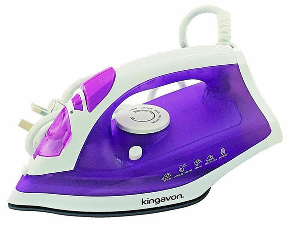 KINGAVON 1600W PURPLE STEAM IRON