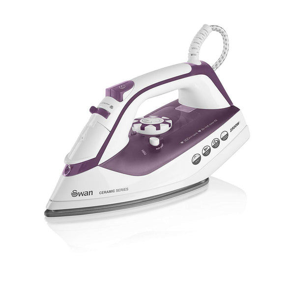 SWAN PURPLE 2500 WATT CERAMIC SERIES STEAM IRON