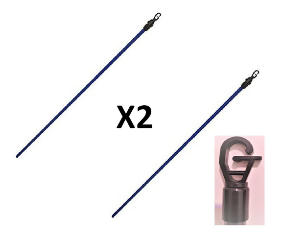 KINGFISHER SET OF 2 2.4M TELESCOPIC CLOTHES POLE
