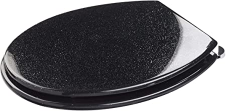 BLUE CANYON BLACK STARLIGHT GLITTER RESIN TOILET SEAT