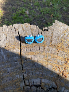 Cookie Monster Sesame Street Earrings