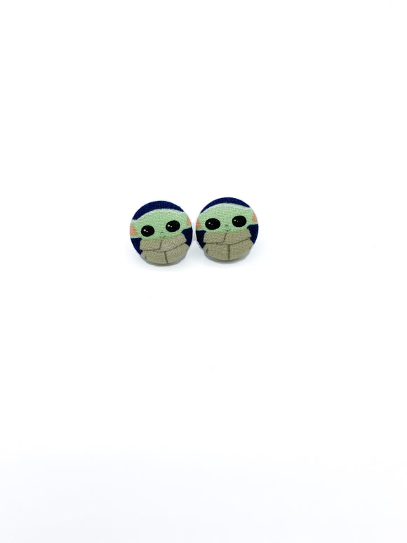 Baby Yoda stud earrings