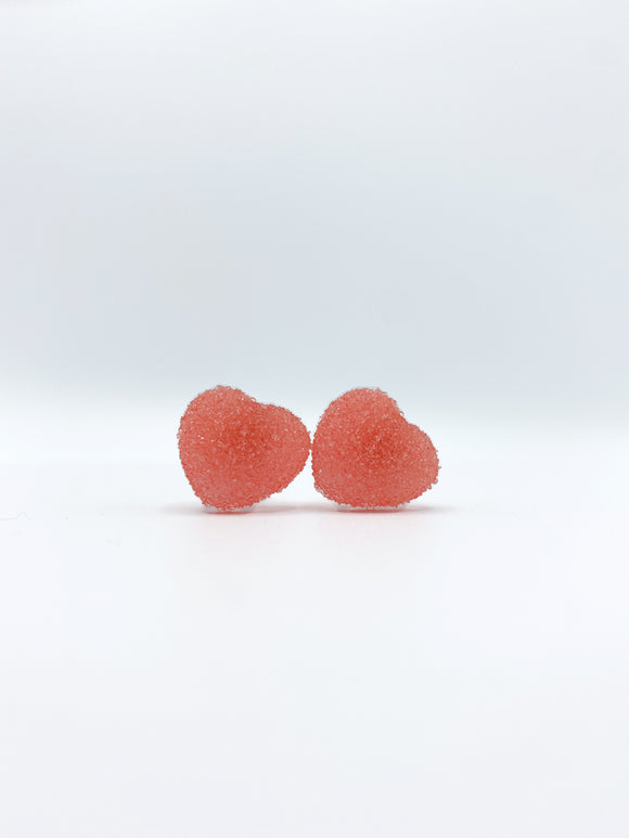 Heart Gummy Candy earrings