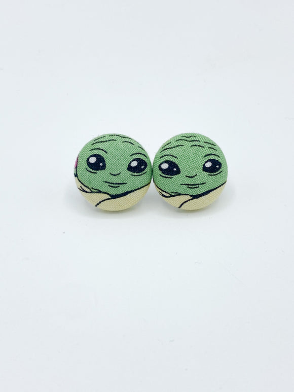 Baby Yoda Stud Earrings Baby Yoda Gift