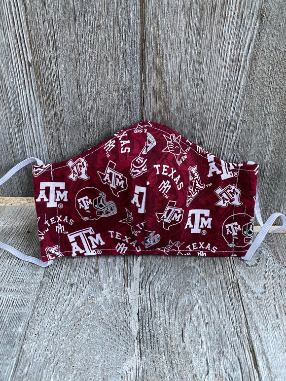 Texas A&M Face Mask Aggies Mask
