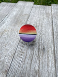Serape Badge Reel ID Holder