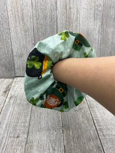 St Patrick's Day Oversized Scrunchie St Patrick's Day Hair Tie
